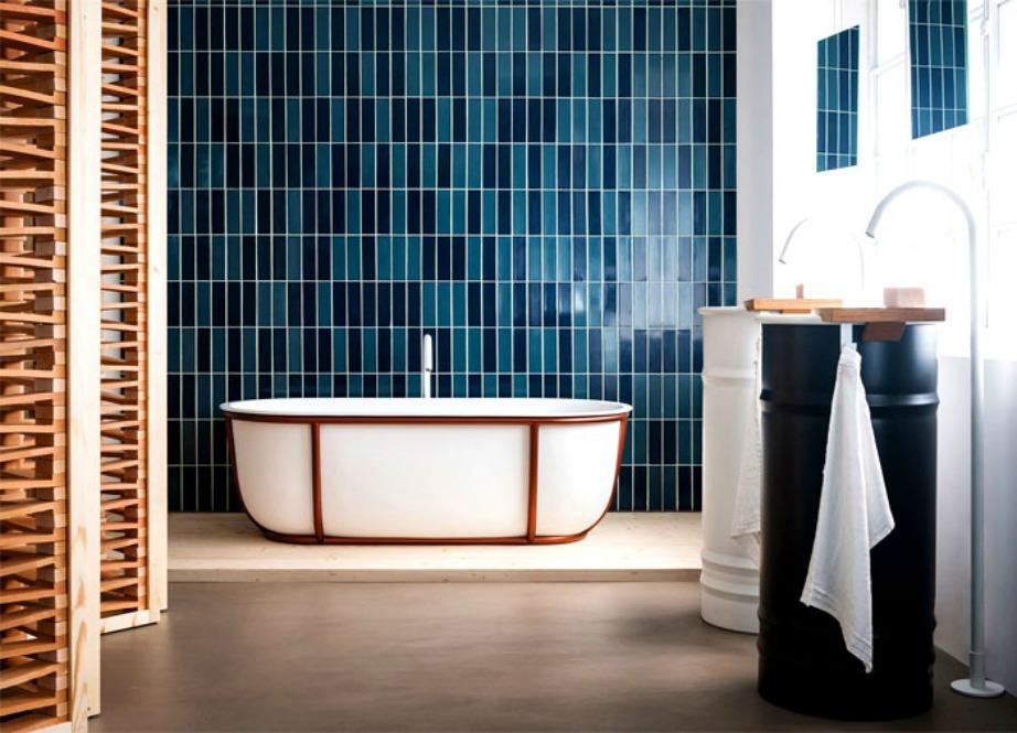 Οι συνδυασμοί πολλών και διαφορετικών υλικών που ταιριάζουν μοναδικά θα δώσουν στιλ στο μπάνιο σας.