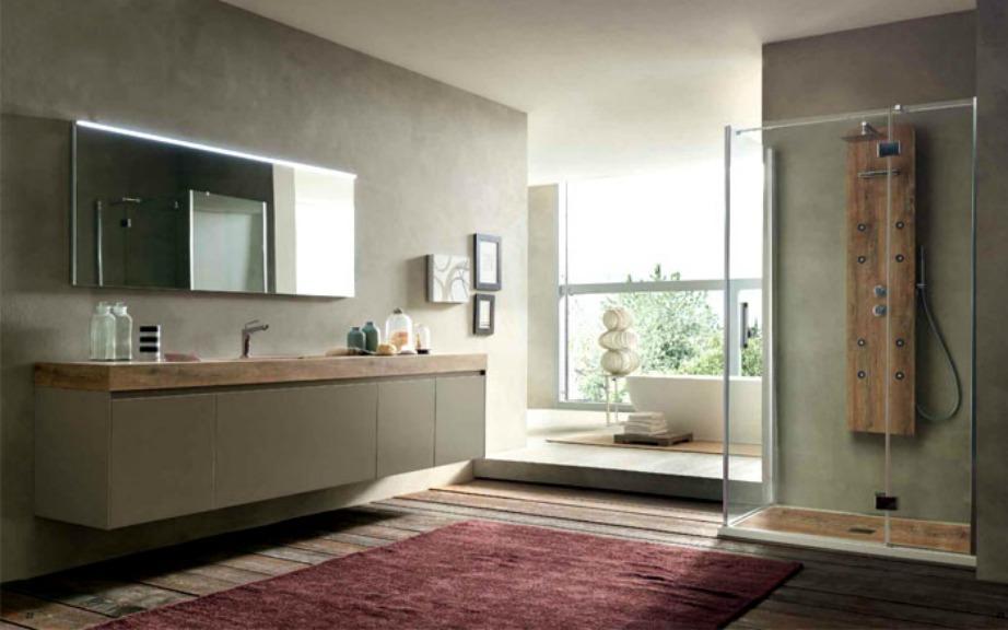 Διαχρονικά υλικά δίνουν χαρακτήρα στο μπάνιο σας.