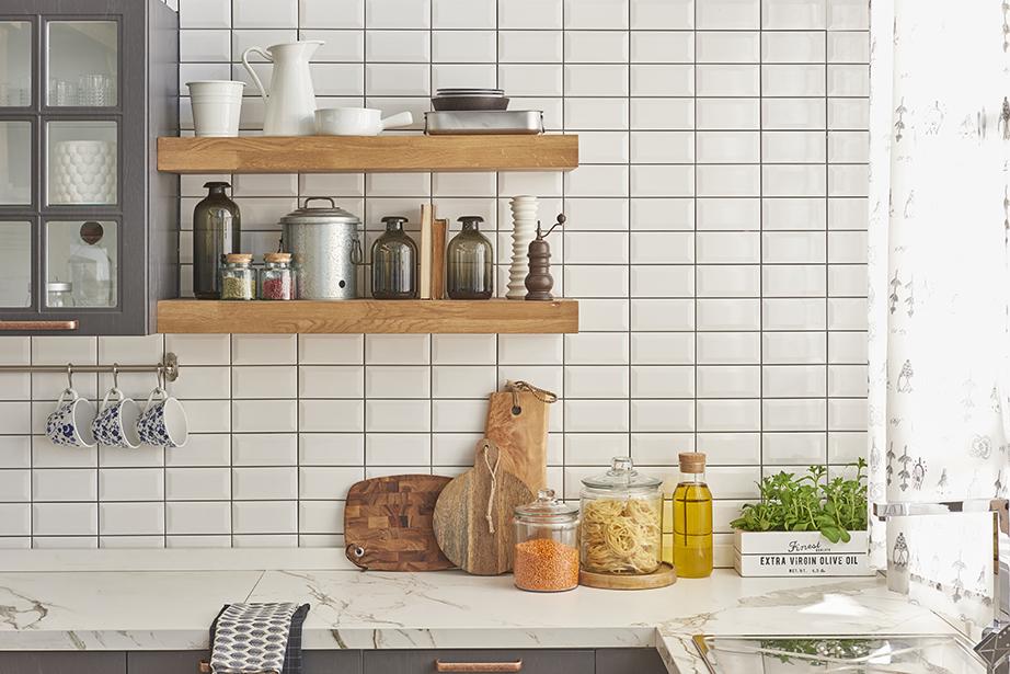 Για τα μακρόστενα πλακάκια στο μπάνιο και την κουζίνα συμπληρώστε κόκκινο «Χ» για το 2017.