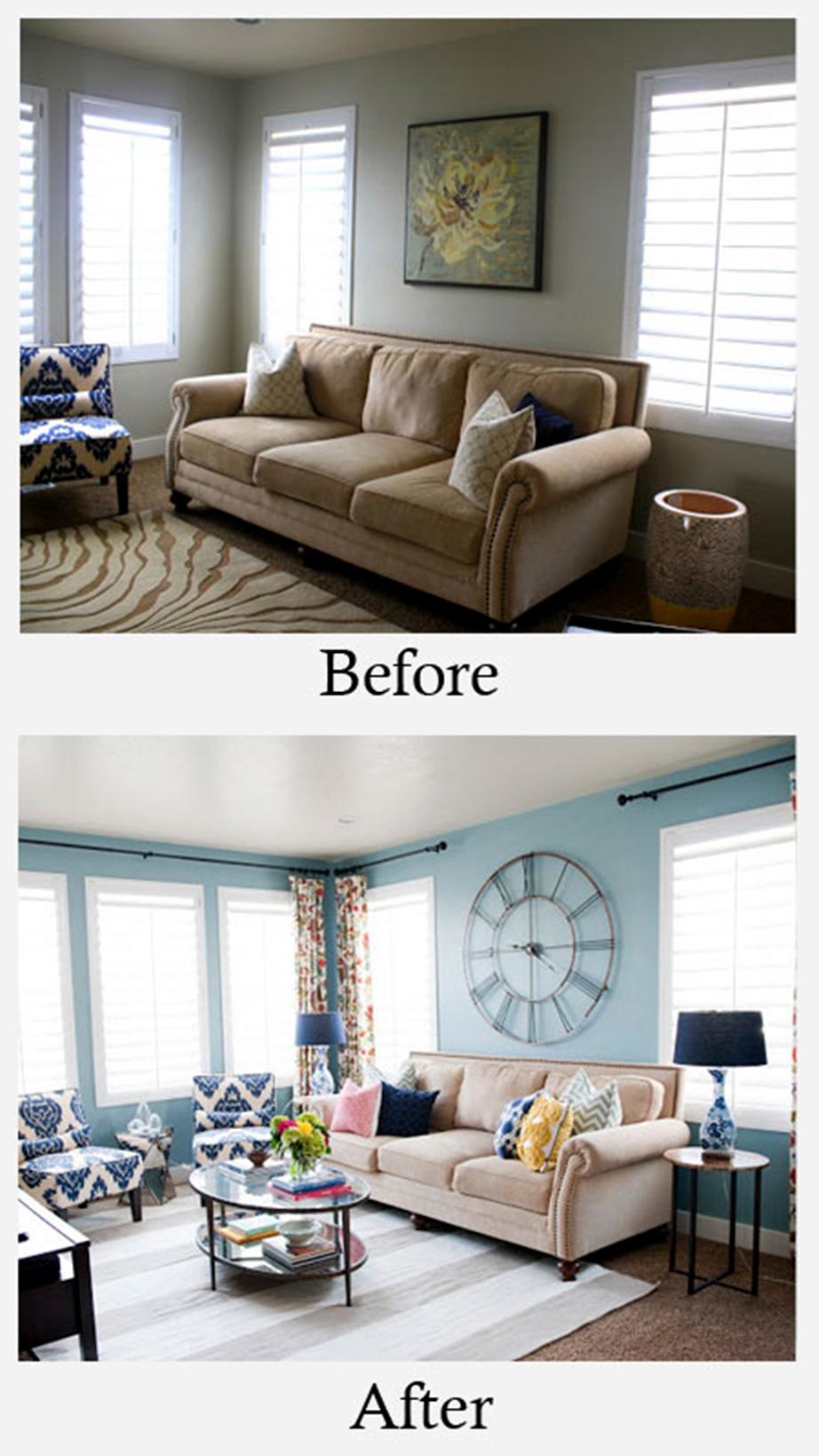 Αλλαγή χρώματος στους τοίχους, βοηθητικών επίπλων και επιδαπέδιου χαλιού. Από το House of Jade