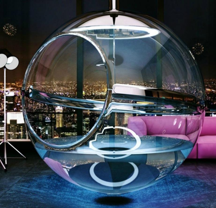 Ένα από τα θετικά της μπανιέρας είναι πως ενώ απολαμβάνετε το ντους σας, θα βρέχει ταυτόχρονα από την γυάλινη οροφή της μπανιέρας.