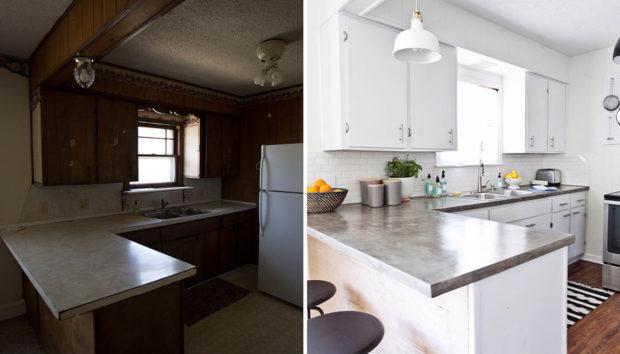 Πριν και Μετά: Δείτε τα Αποτελέσματα μιας Υπέροχα Ανανεωμένης Κουζίνας