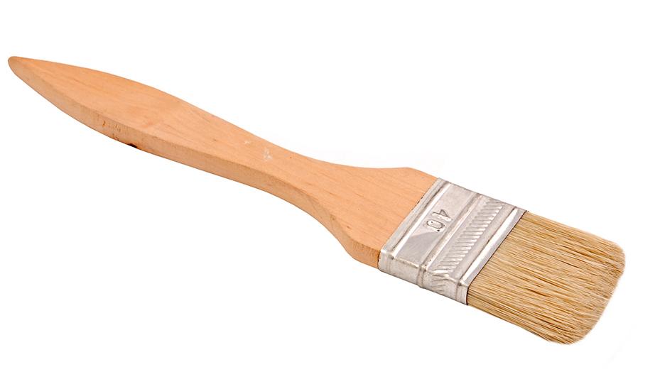 Προτιμήστε το κλασικό ξύλινο πινέλο με τις φυσικές τρίχες και όχι κάποιο σιλικόνης για μεγαλύτερη ευελιξία.