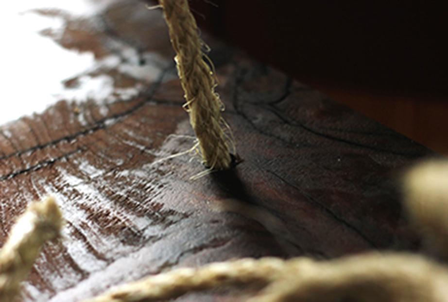 Το μέγεθος των τρυπών θα πρέπει να είναι ανάλογο των διαστάσεων του σχοινιού όπου θα περαστεί αργότερα.