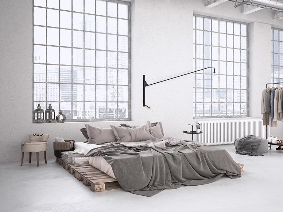 Λιτές και αυστηρές γραμμές ακολουθούνται σε όλους τους χώρους του σπιτιού και της διακόσμησης ενώ τα λιγοστά έπιπλα και οι ανοιχτοί χώροι είναι τα σημεία αναγνώρισης του βιομηχανικού ύφους.