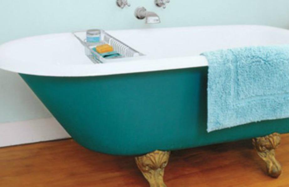Μια πολύ ωραία ιδέα είναι να βάψετε την μπανιέρα σας.