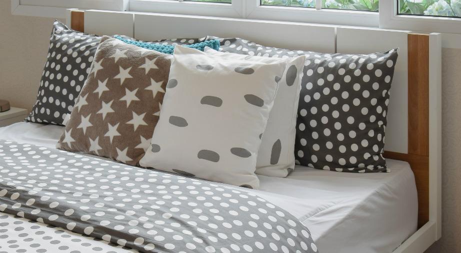 Το πουά είναι ένα σχέδιο που ταιριάζει ιδιαίτερα σε παιδικά δωμάτια και κρεβατοκάμαρες.