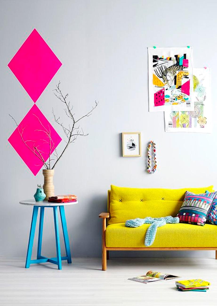 Δημιουργήστε γεωμετρικά χρωματογραφήματα στον τοίχο σας.