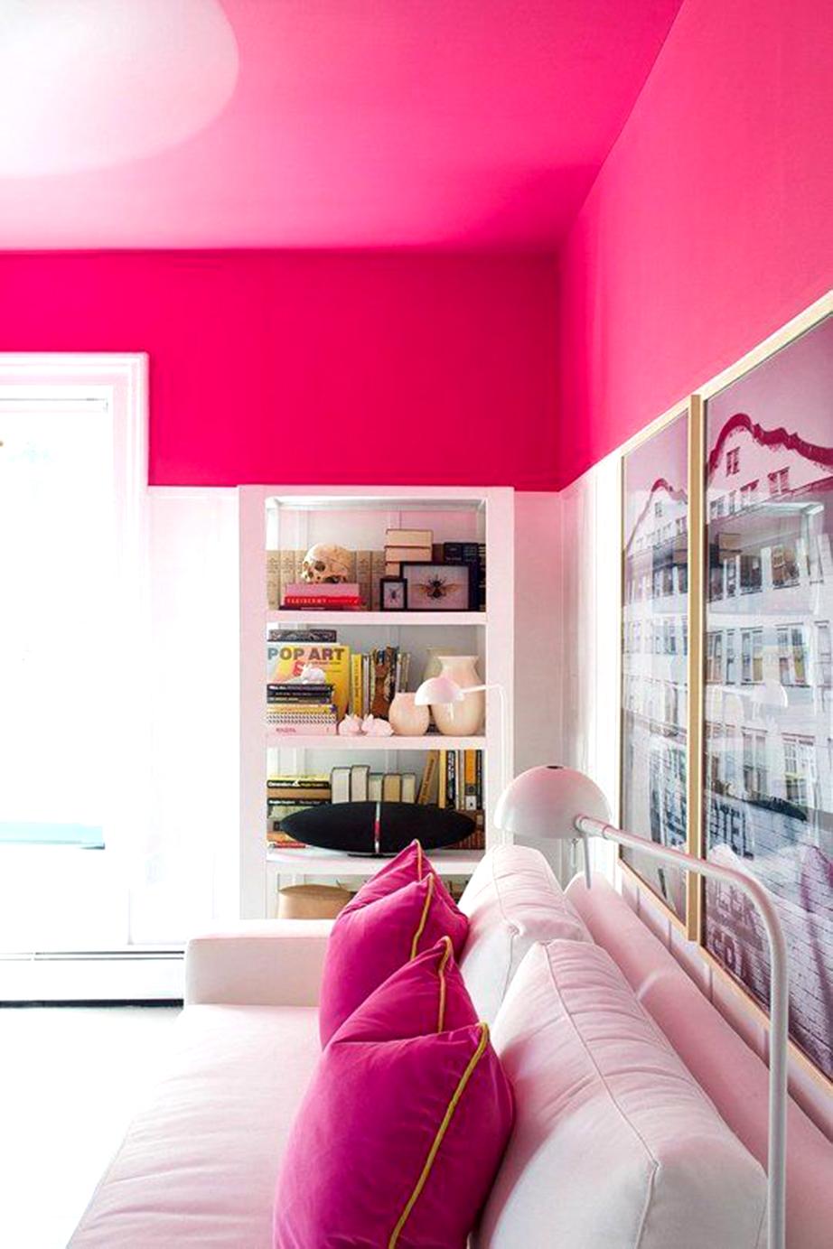 Βάλτε χρώμα στο ταβάνι.