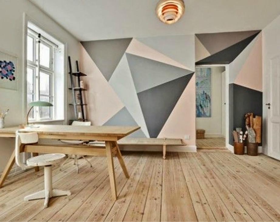 Βάψτε τους τοίχους σας με έμπνευση από τη γεωμετρία.