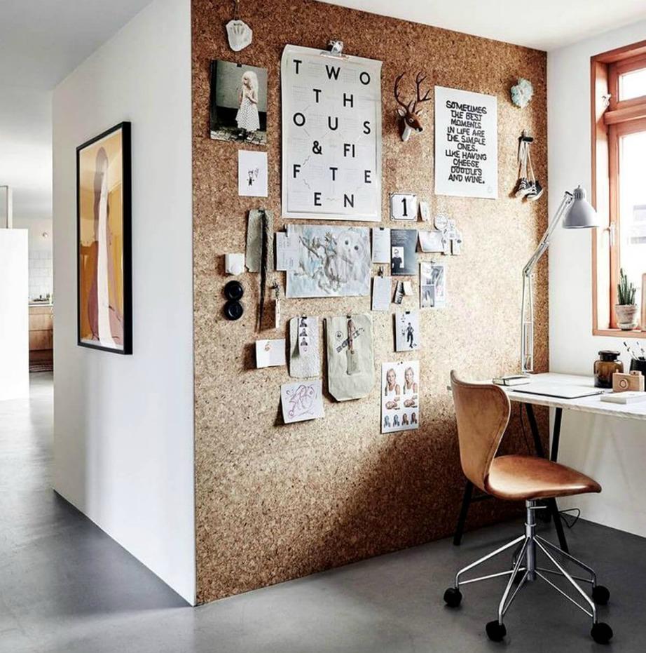 Επενδύστε τον έναν τοίχο σας με φελλό.