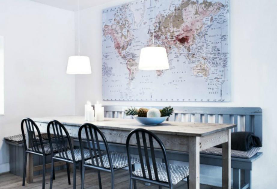 Ένας χάρτης αποτελεί επίσης το τέλειο διακοσμητικό για τον τοίχο σας.