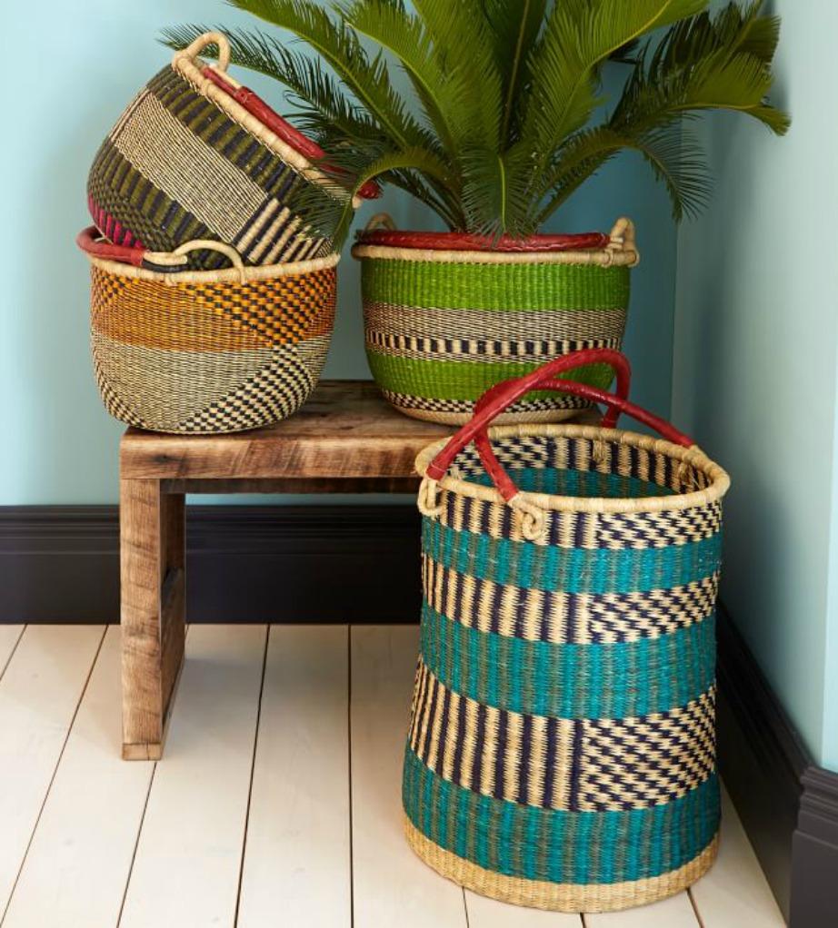 Τα boho καλάθια είναι πολύ όμορφα για τη διακόσμηση του σπιτιού σας.
