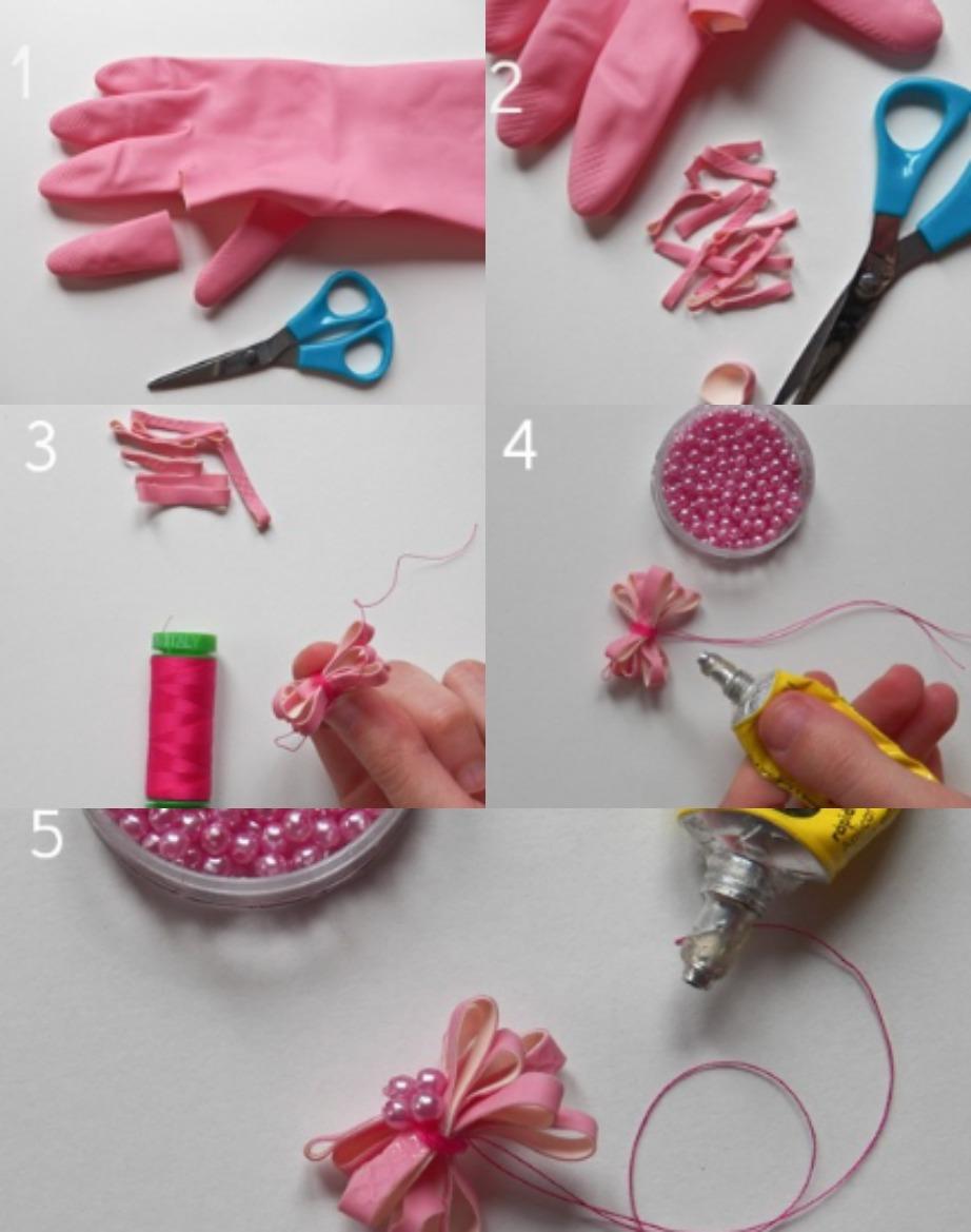 Διακοσμήστε τα δώρα σας με υπέροχα φιογκάκια φτιαγμένα από γάντια.