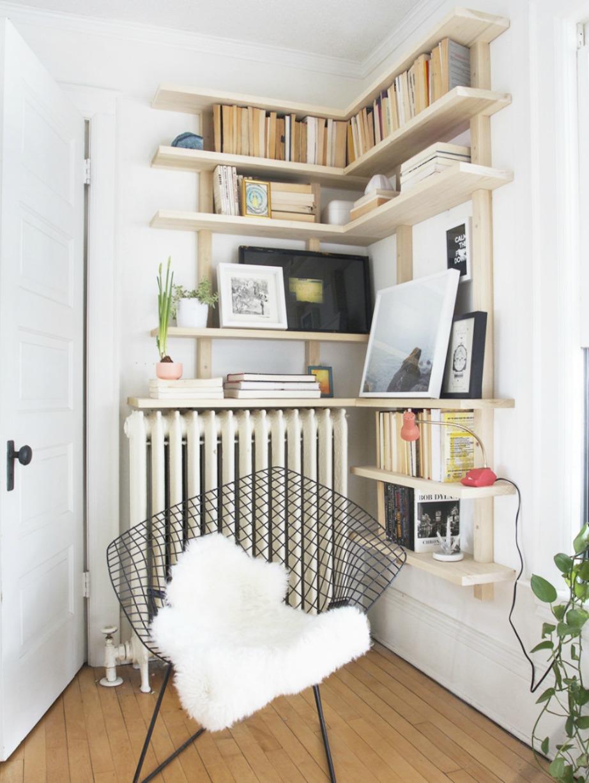 Φτιάξτε μια όμορφη γωνιακή βιβλιοθήκη.