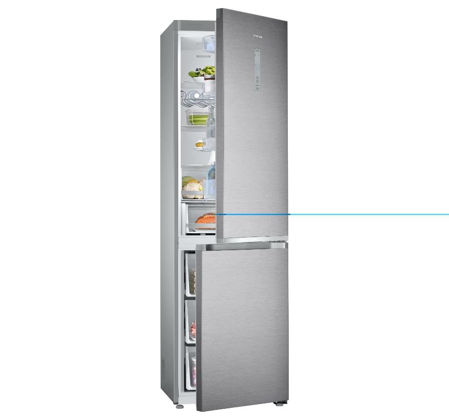 Το συγκεκριμένο ψυγείο είναι σχεδιασμένο για να χωράει περισσότερα τρόφιμα χωρίς να πιάνει περισσότερο χώρο.