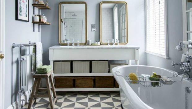 Πριν και Μετά: Ένα Σκοτεινό Μπάνιο Γίνεται Υπερπολυτελές Μπάνιο Περιοδικού!