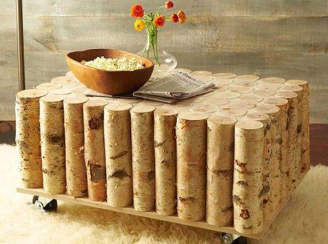 Φτιάξτε το Δικό σας DIY Coffee Table από Σημύδες