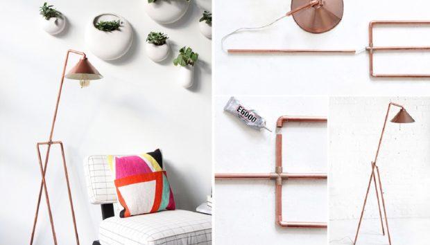 DIY: Φτιάξτε Μόνοι σας Αυτό το Υπέροχο Φωτιστικό από Χαλκοσωλήνες