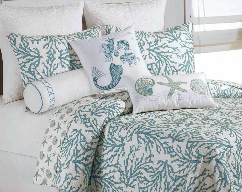 Αν θέλετε μπορείτε να στρώνετε σεντόνια με κοχύλια πάνω στο κρεβάτι σας..