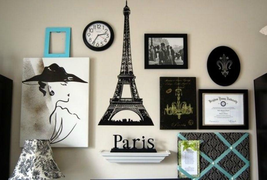 Φτιάξτε μια gallery τοίχου που να αποτελείται από κομμάτια που θυμίζουν Παρίσι.