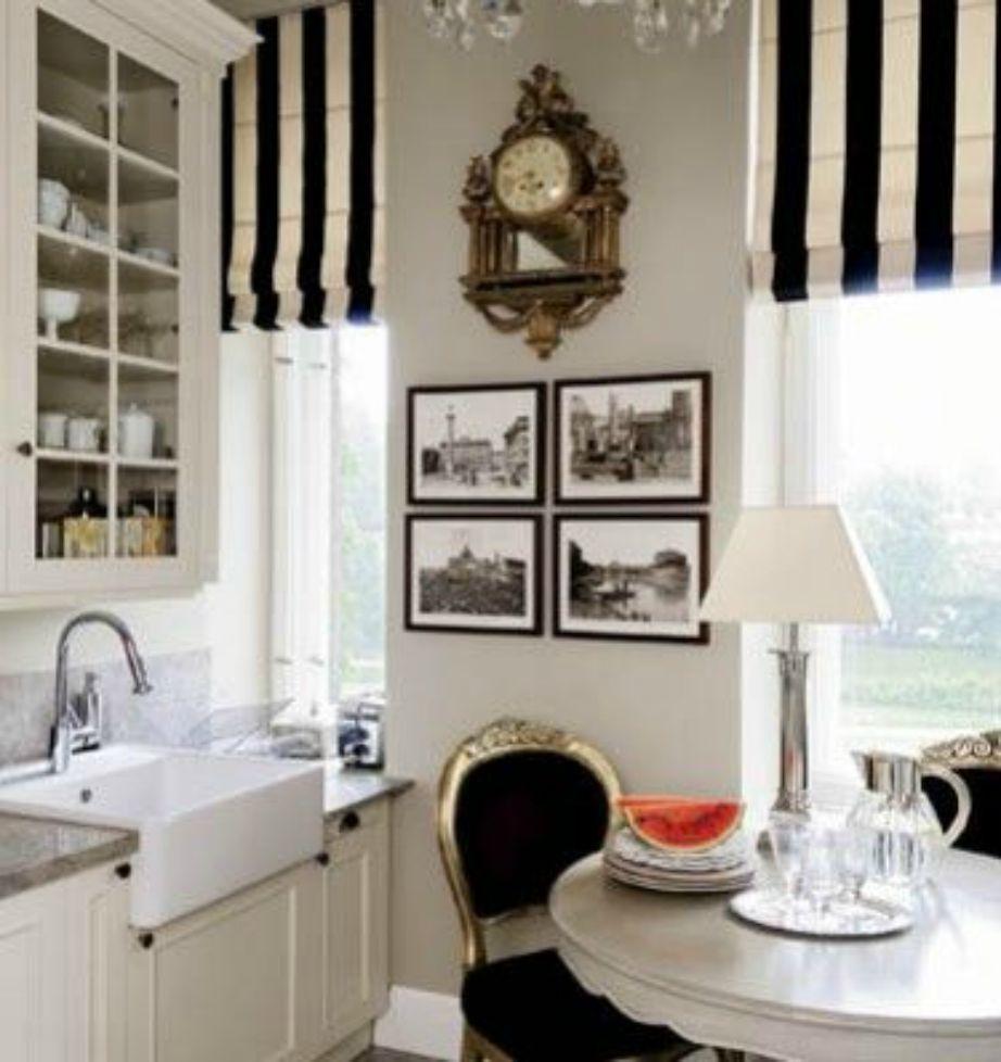 Οι ασπρόμαυροι τόνοι και τα vintage διακοσμητικά ταιριάζουν πολύ στην παριζιάνικη διακόσμηση.