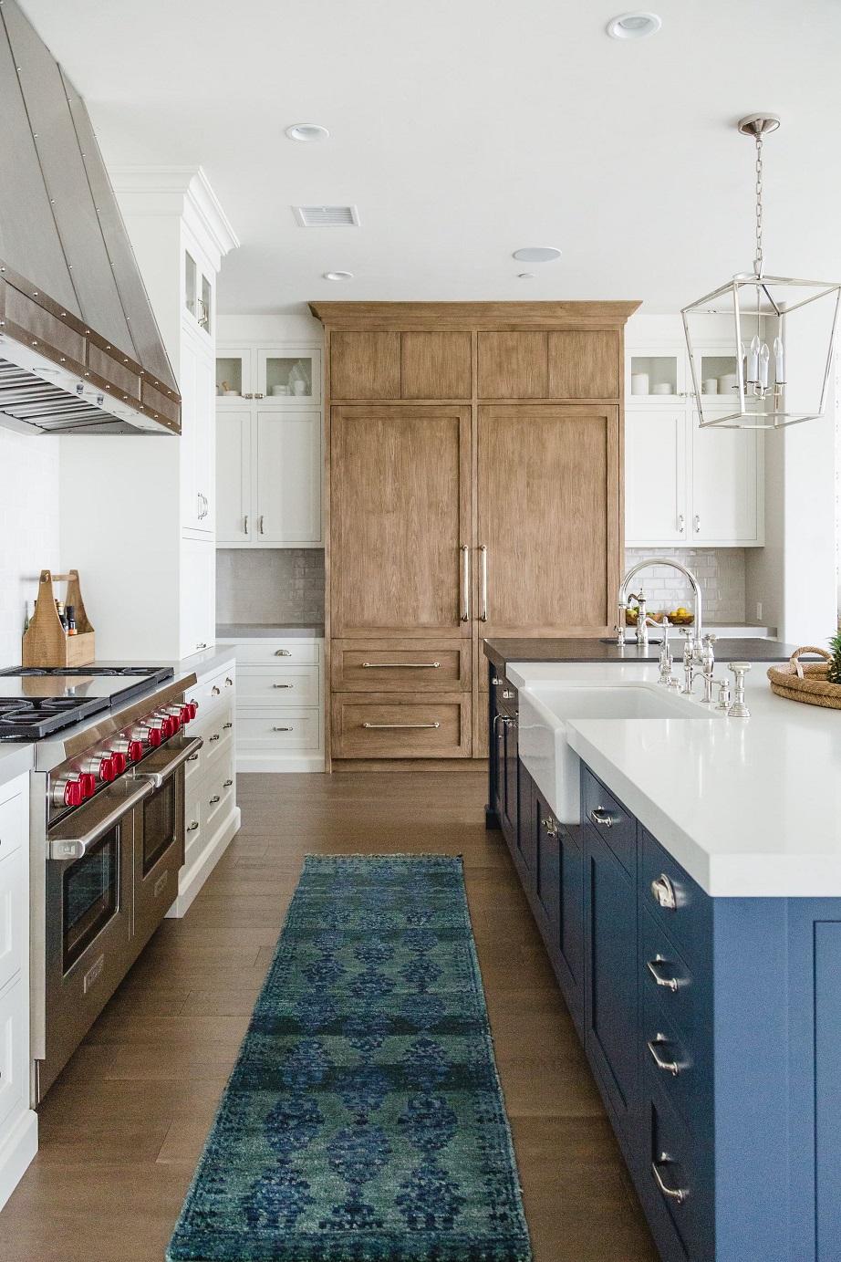 δίχρωμα ντουλάπια κουζίνας