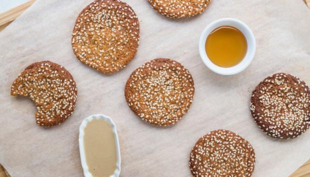 Εύκολα Μπισκότα με Ταχίνι & Μέλι: Χωρίς Ζάχαρη, Χωρίς Γλουτένη & Νηστίσιμα