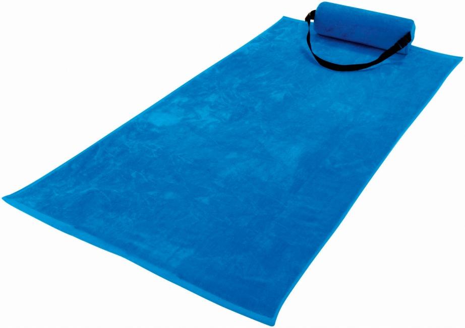 Δύο σε ένα, πετσέτα με μαξιλάρι για περισσότερη άνεση στα βότσαλα.