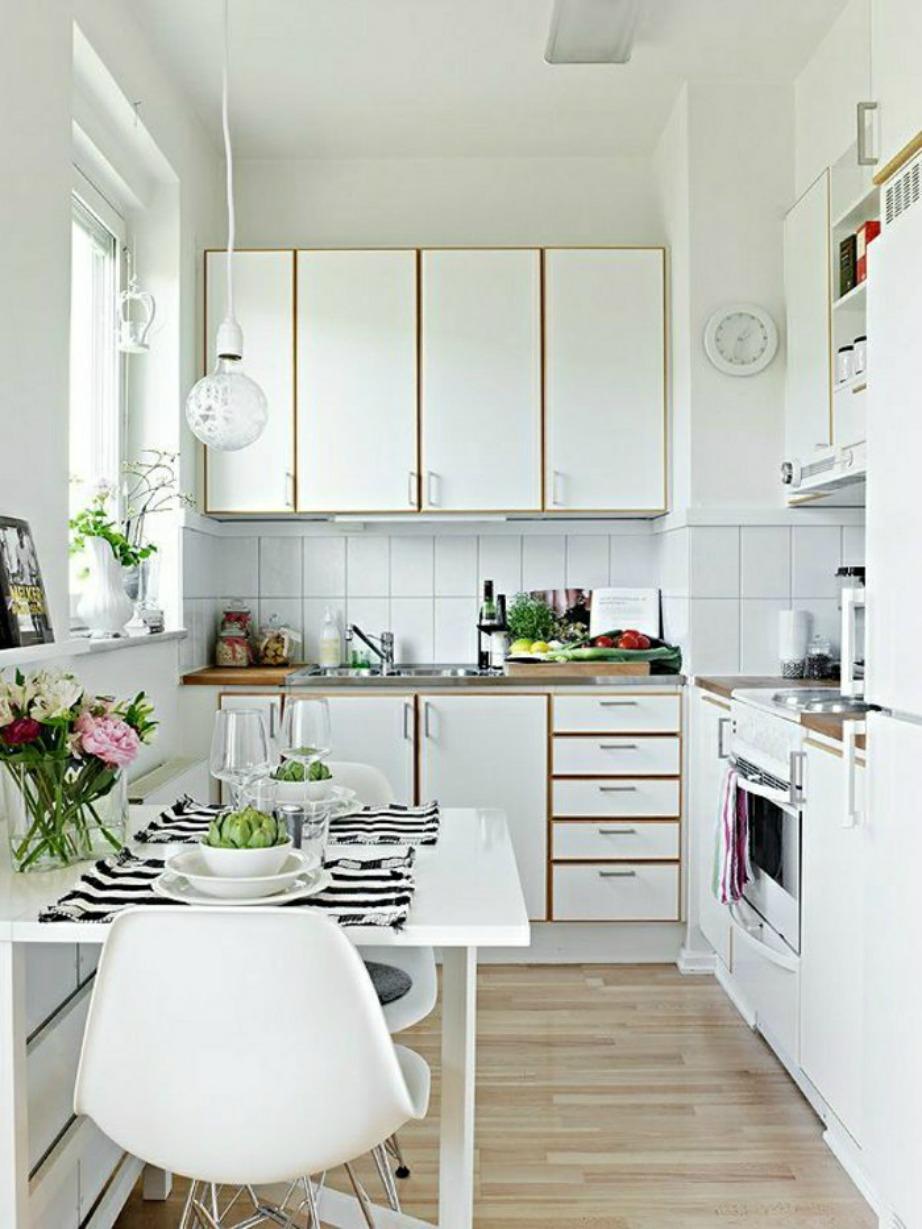 Το λευκό είναι το μοναδικό χρώμα που μπορεί να μεγαλώσει την κουζίνα σας.