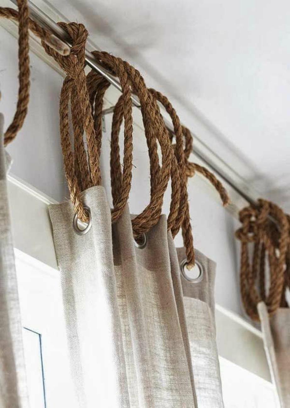 Η αύξηση του μάκρους της κουρτίνας με σχοινιά είναι μια έξυπνη λύση.