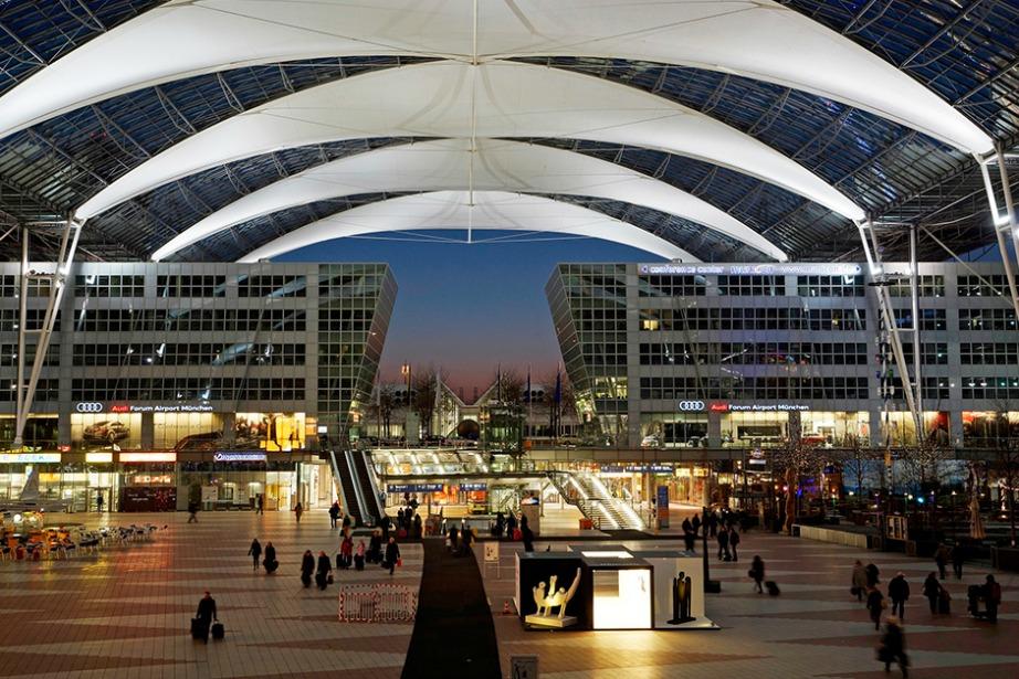 Το αεροδρόμιο του Μονάχου φημίζεται για την οργάνωσή του.