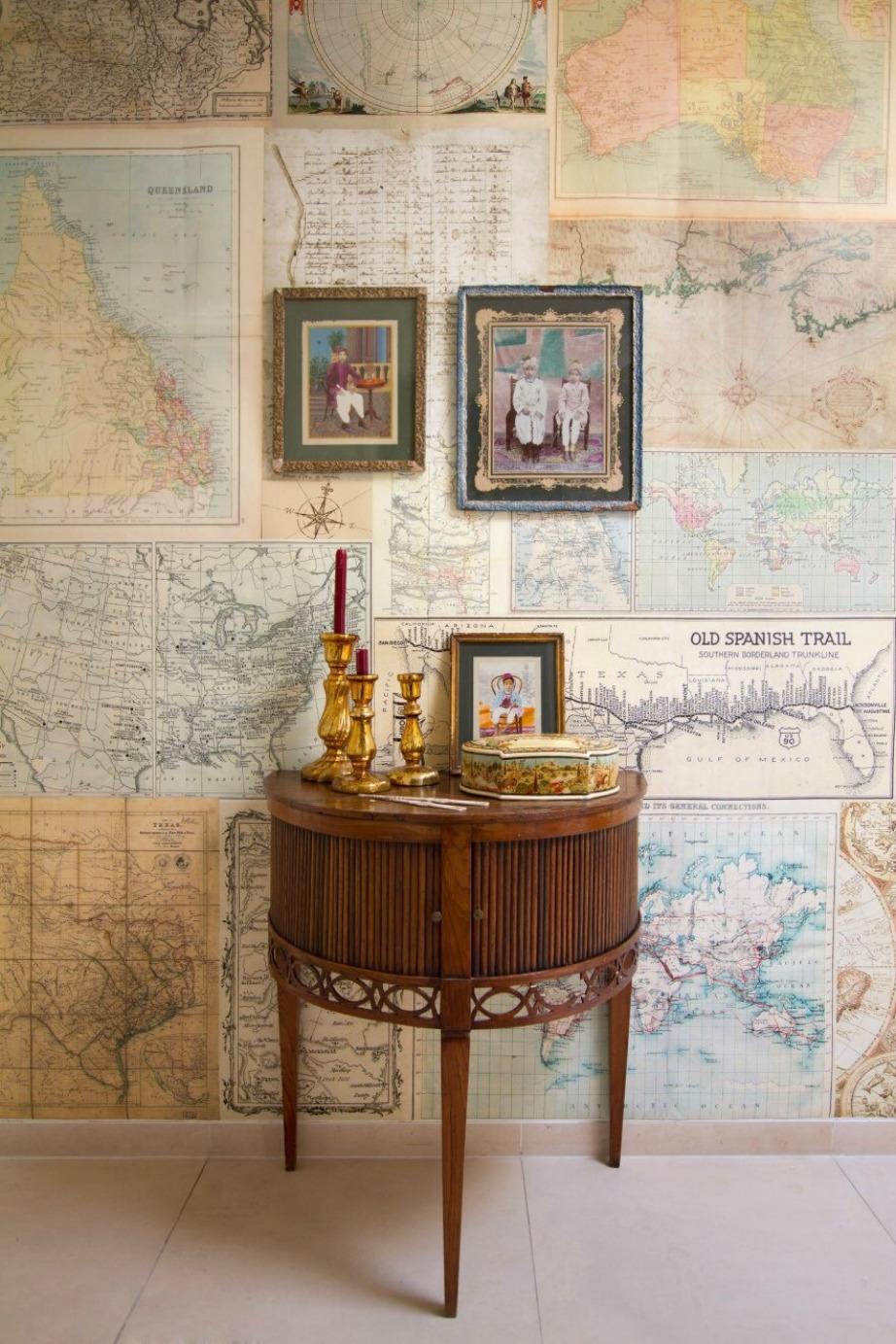 Για να μη χάνεστε ποτέ βάλτε τους χάρτες στον τοίχο σας.