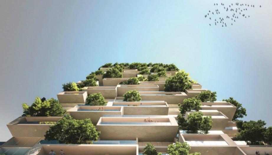 Μοναδική άποψη του κτιρίου με την εντυπωσιακή αρχιτεκτονική.