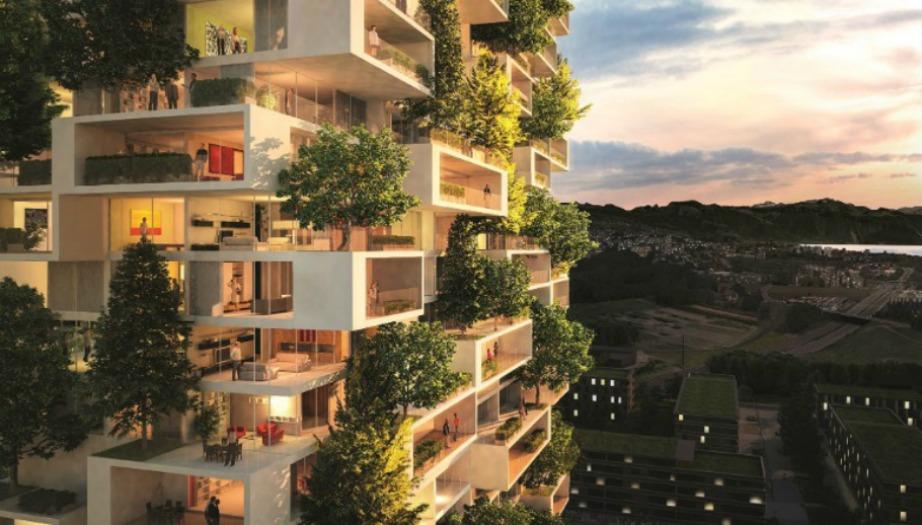 Τα πράσινα αυτά κτίρια είναι εμπνευσμένα από τον Ιταλό αρχιτέκτονα και την ομάδα του.