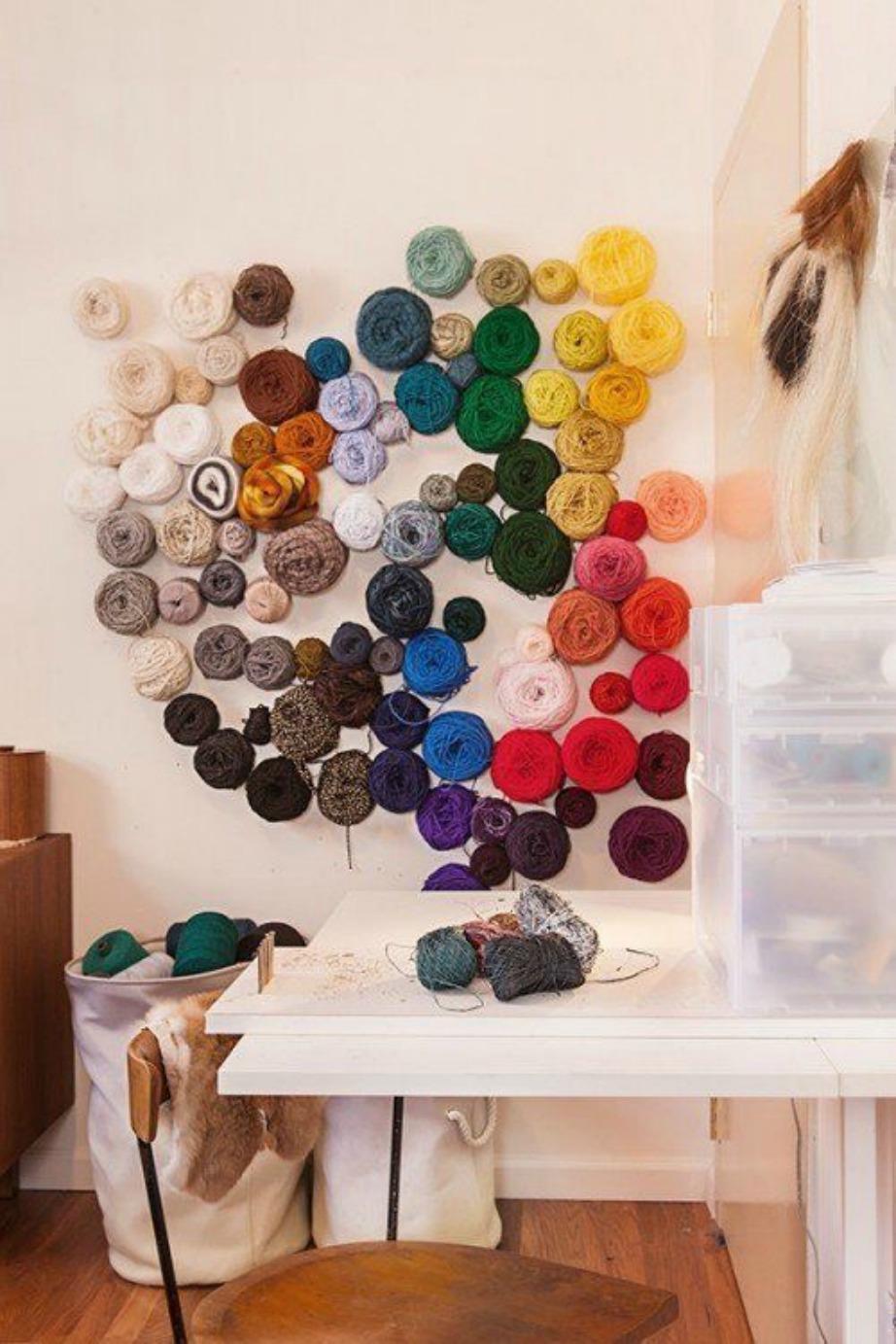 Είναι μια καλή λύση να ξεκινήσετε το πλέξιμο! Το μαλλιά πλεξίματος θα ζεστάνουν πολύ το χώρο σας.