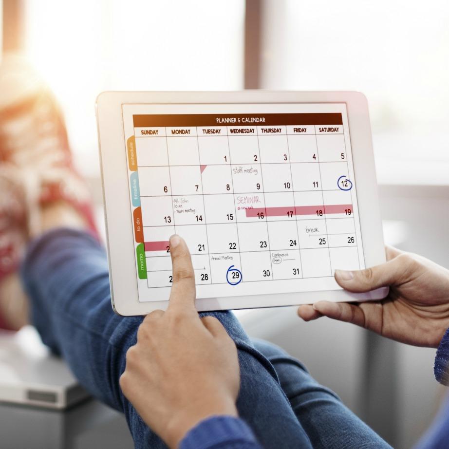 Τσεκάρετε κάθε δουλειά που έχετε να κάνετε στο ημερολόγιό σας.