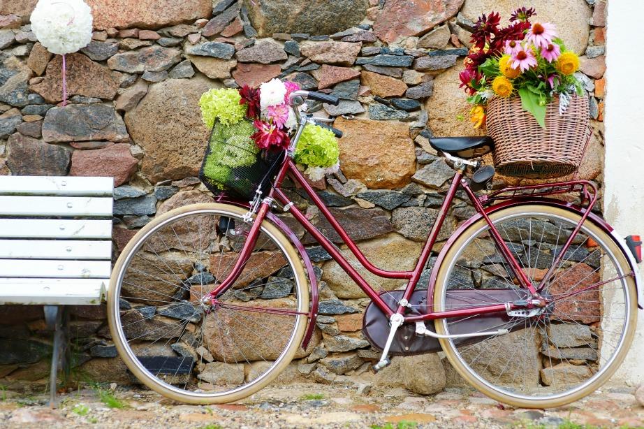 Το καλάθι του ποδηλάτου σας μπορεί να γίνει μια όμορφη γλάστρα με λουλούδια.