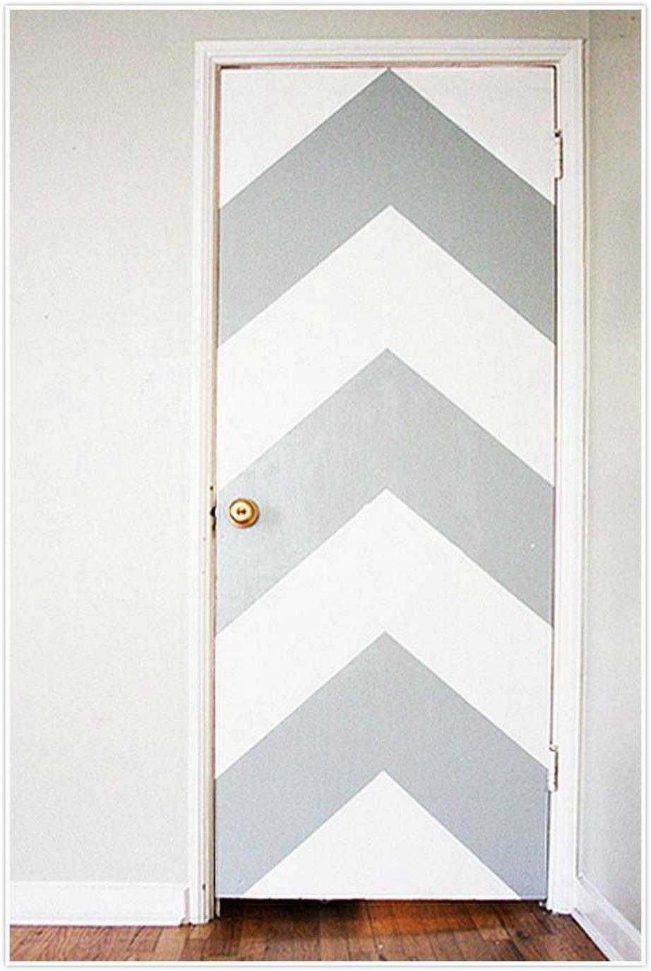 Μη τη χρήση ταινίας θα βάψετε την πόρτα σας σε διάφορα μοτίβα που εσείς θα έχετε ορίσει.