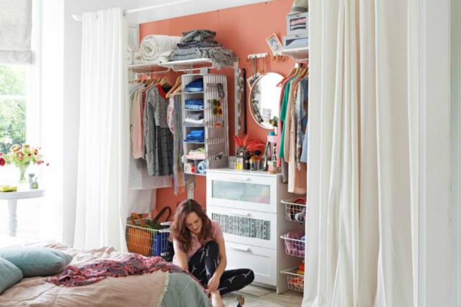 Η κουρτίνα είναι ιδανική για να κρύβει τις ατέλειες και να καλύπτει πράγματα που τυχόν δε θέλετε να φαίνονται.