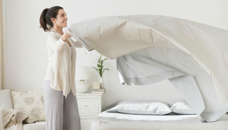στρώσιμο κρεβατιού