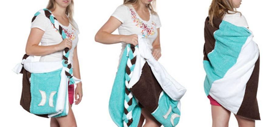 Άνεση και ευελιξία όταν η πετσέτα σας γίνεται τσάντα για να μεταφέρετε τα πράγματά σας.