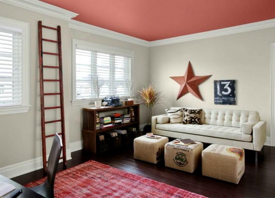 Βάψτε με χρώμα το ταβάνι.