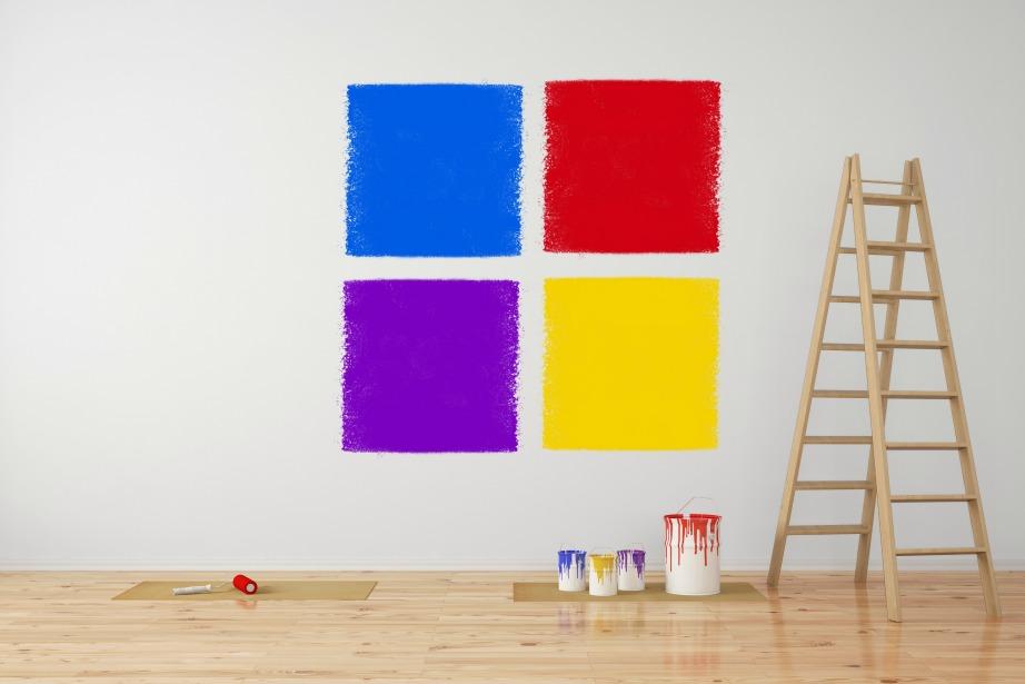 Ένα χρωματικό τεστ είναι αναγκαίο πριν προβείτε στο ολικό βάψιμο του τοίχου.