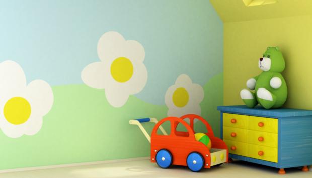 Δείτε 2  Έξυπνους Τρόπους για να Βάψετε το Βρεφικό σας Δωμάτιο