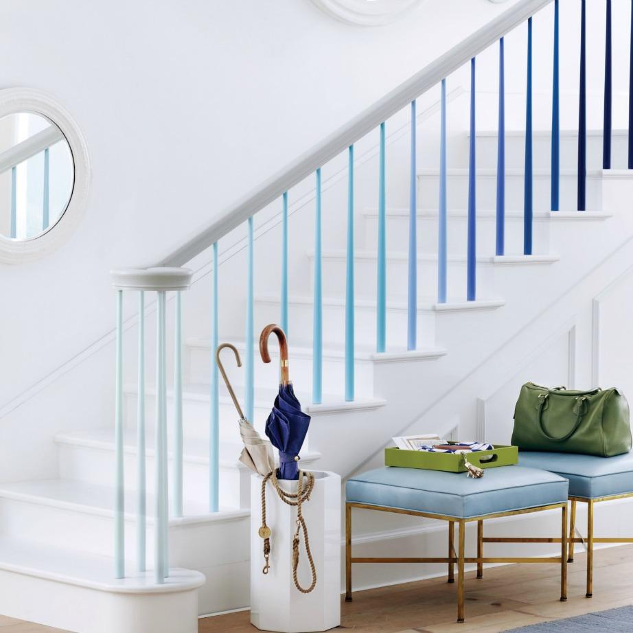 Μπορείτε να βάψετε τα κάγκελα της σκάλας.