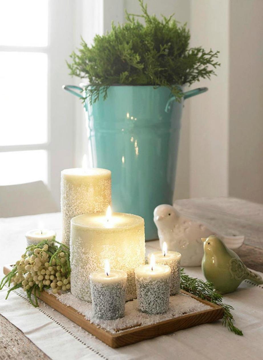 Τα κεριά αποτελούν τον πιο οικονομικό τρόπο διακόσμησης.
