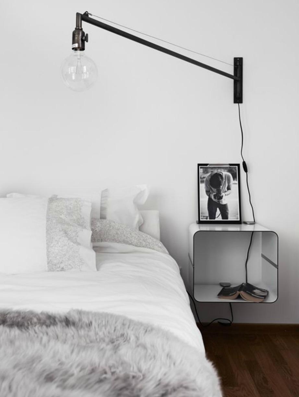 Οι μεγάλες λάμπες δίνουν στιλ και κομψότητα σε ένα υπνοδωμάτιο.