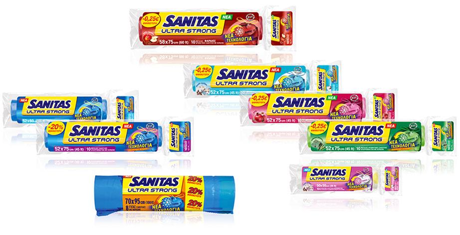 Θα βρείτε τις σακούλες σκουπιδιών SANITAS σε πάρα πολλά χρώματα για να δημιουργήσετε ένα φωτιστικό που να ταιριάζει απόλυτα στο σπίτι σας.