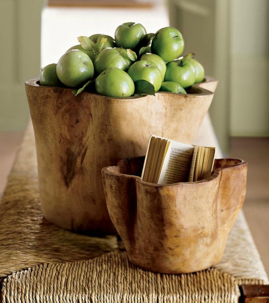 Αυτά τα ξύλινα μπολ θα δώσουν πολύ στιλ στον χώρο σας.